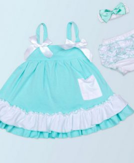 Fashion Baby Girl Lace Sling Dress Ruffle Bloomers