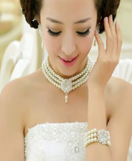 fashion big pearl bride sets of beautiful